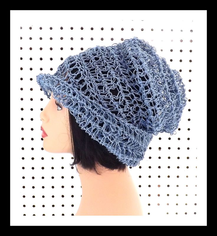 Light Blue Crochet Hat Womens Hat Summer Hat for Women Crochet Beanie Hat Light Blue Hat OMBRETTA Beanie Hat 45.00 USD by #strawberrycouture on #Etsy - MUST SEE!