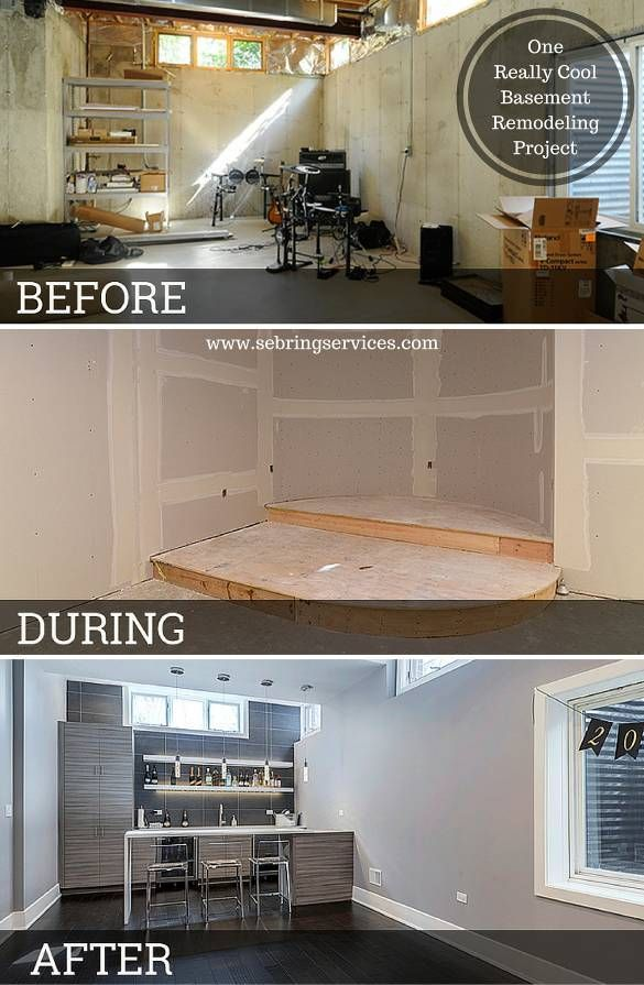 Before U0026 After: One Really Cool Basement Remodeling Project