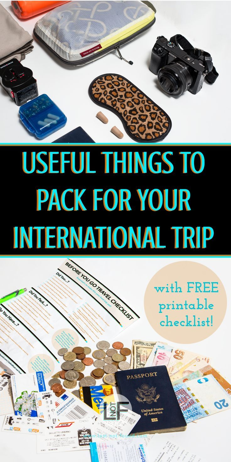 Knowing what to bring on a trip can be a hard thing to determine. These are some great items that you might overlook but will be happy to have when you arrive at your destination!   What to pack   Useful things   How to Travel  #TravelTips #PackingList #InternationalTravel