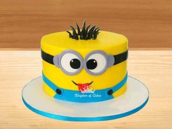 Fantastic Order Online Minions Cake For Kids Unique Designed Theme Cakes Personalised Birthday Cards Veneteletsinfo