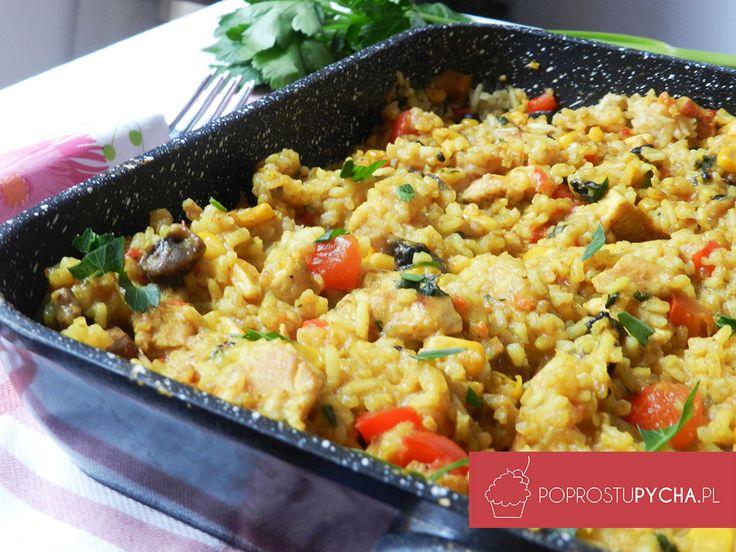 Fit risotto z kurczakiem <3  http://poprostupycha.com.pl/fit-risottozkurczakiem/ #kurcza #fit #przepis #obiad #poprostupycha