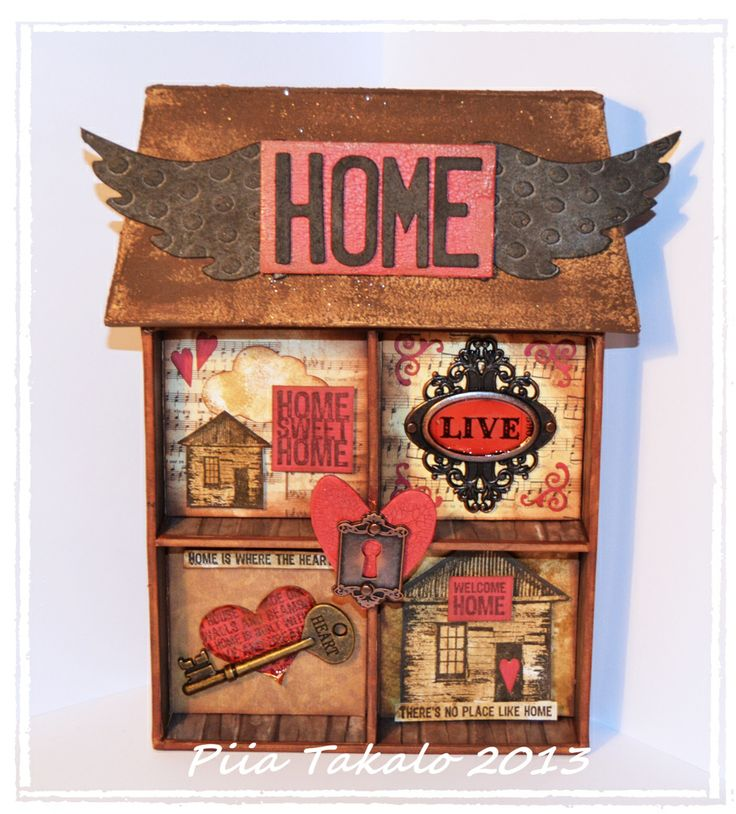 Altered art & art journaling : Home is where the heart is… » Fiskarettes FI