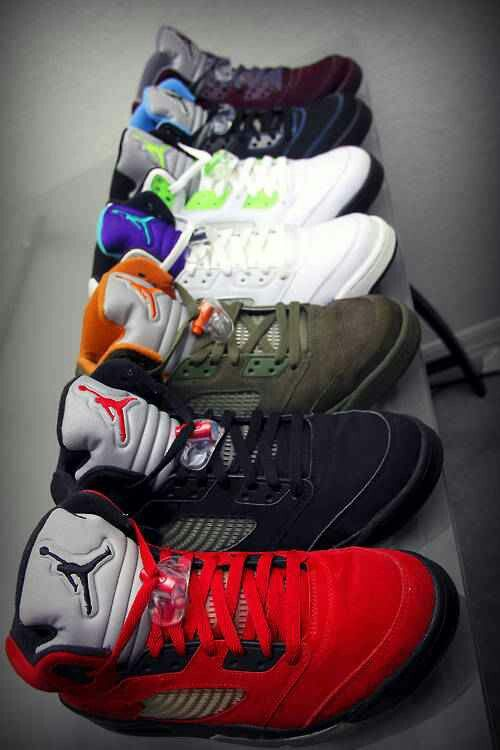 If I had all of these I still probably wouldn't be happy. Lol but I love Jordan's for some reason. These and Vans always get me.