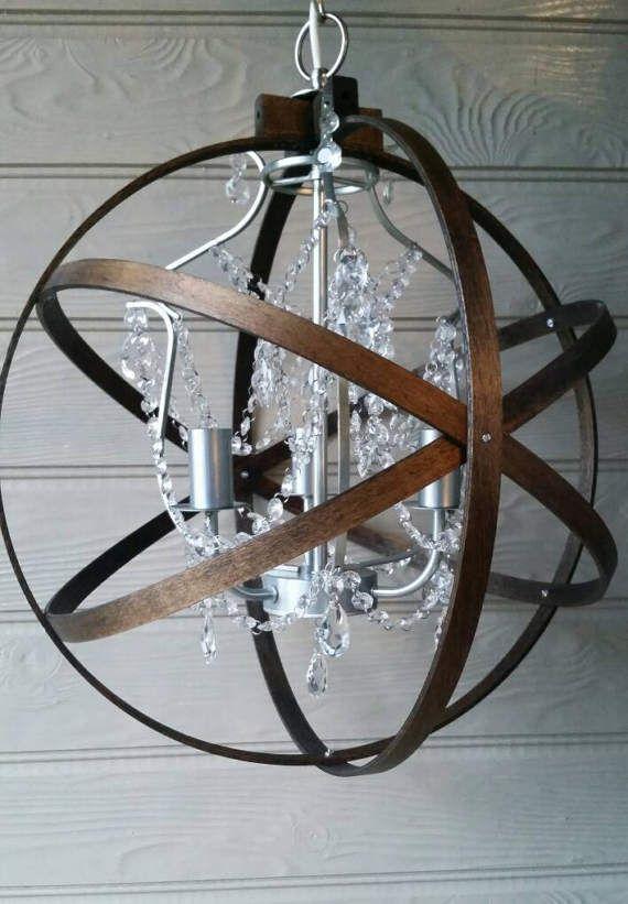 reserved listing for jennifer crystal chandelier orb light