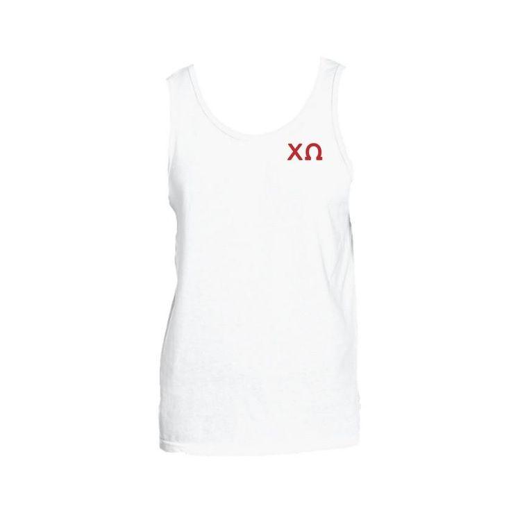 Chi Omega Tank To... Buy today! http://manddsororitygifts.com/products/chi-omega-tank-greek-corner?utm_campaign=social_autopilot&utm_source=pin&utm_medium=pin