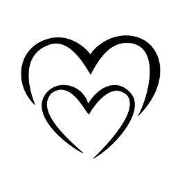 M+M simple heart tattoo
