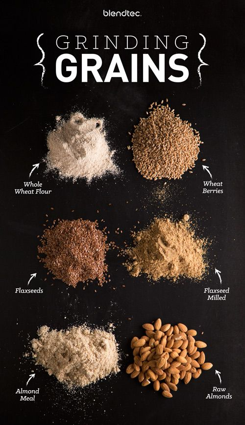 Did you know that you can grind grains such as rice, wheat berries, oats and flaxseed in your Blendtec blender?! It's a great way to make your own gluten-free baking mixes or any type of flour at home!
