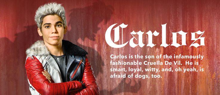 "Cruella de Ville's son, Carlos, in ""Descendants"". READ IT: http://grown-up-disney-kid.tumblr.com/post/125721950254/a-few-thoughts-on-descendants"