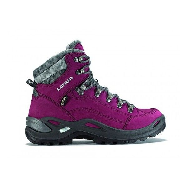 Lowa Renegade GTX Mid Limited Edition Hiking Boot Women's (66 AUD) ❤ liked on Polyvore featuring shoes, long shoes, lowa footwear, lowa, hiking boots and rock shoes
