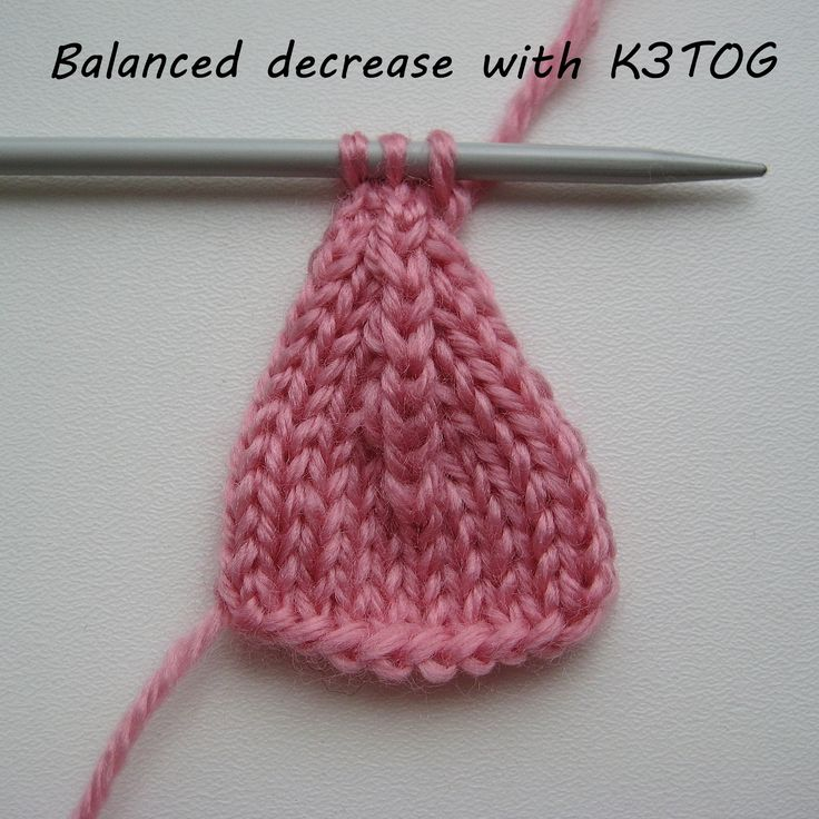 k3tog a nice even appearance Simple tutorial. Slip 2 sts knitwise, knit next st, pass the 2 slipped sts over the knitted stitch.