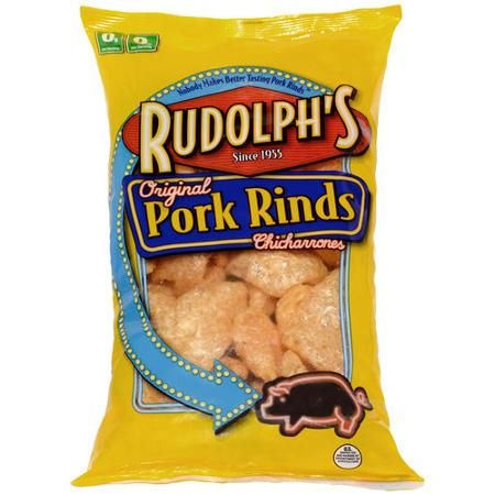 Nothing is better than Rudolph's original pork rinds and some fresh made salsa or guacamole to celebrate #NationalSalsaMonth!