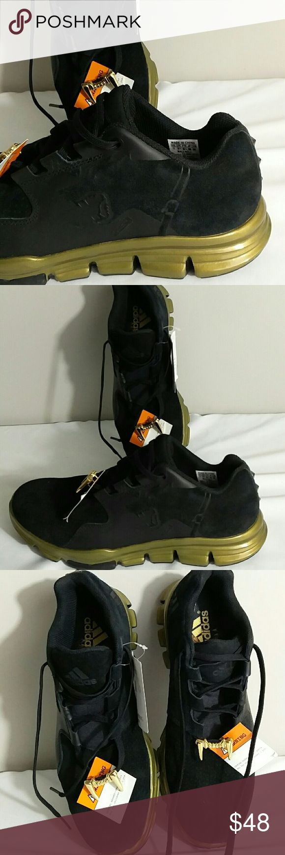 Adidas Gameday Snoop Mens 11 Black Gold Sneakers. You are looking at a new with tag Men's America Football Gameday Snoop size 11 black sneakers. Made in China Please look at pictures and ask questions before buying. Thanks for looking. adidas Shoes Sneakers