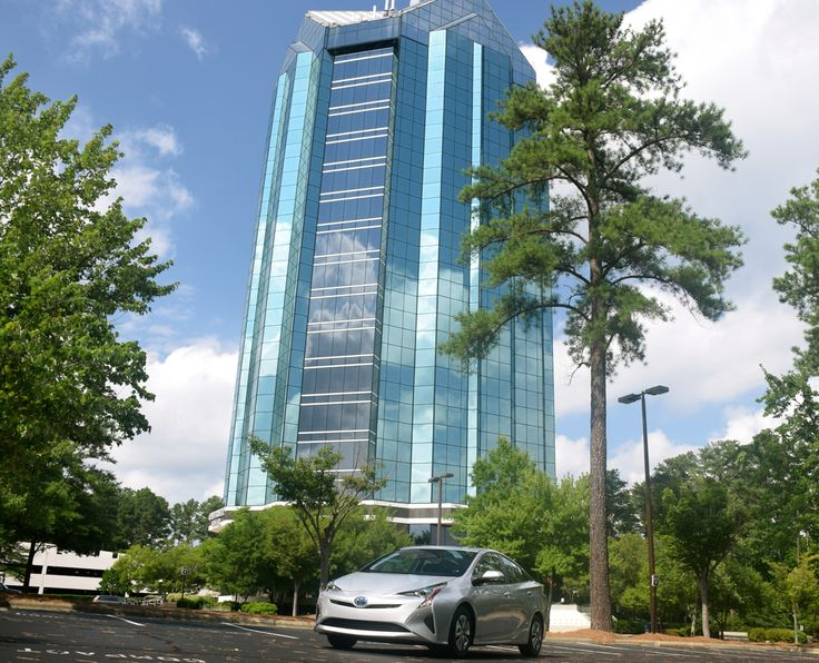 2016 #Toyota Prius parked in front of University Tower, Durham, NC. #TriPrius