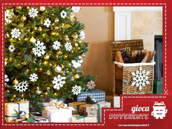 Per entrare nello spirito Natalizio, ecco dei fiocchi di neve per decorare la casa, l'albero e la stanza dei vostri bimbi