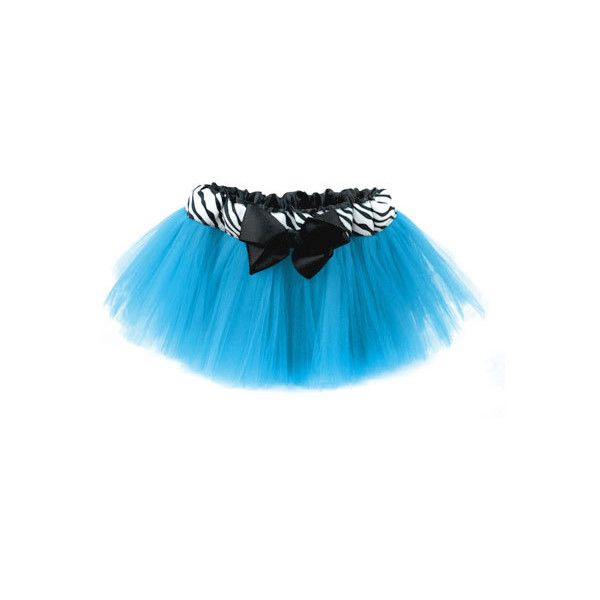 Turquoise Zebra Tutu ($35) ❤ liked on Polyvore featuring skirts, tutus, tutu, baby and baby girl