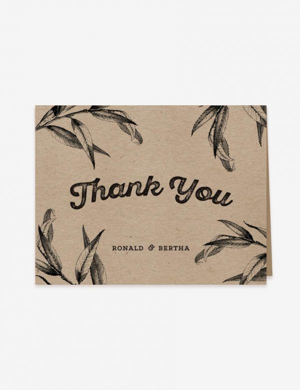 Rustic wedding thank you card. Get this printable card design at www.inatondesign.com