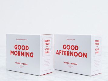 Our exclusive new Good Morning and Good Afternoon Tea blends in a handy two-pack