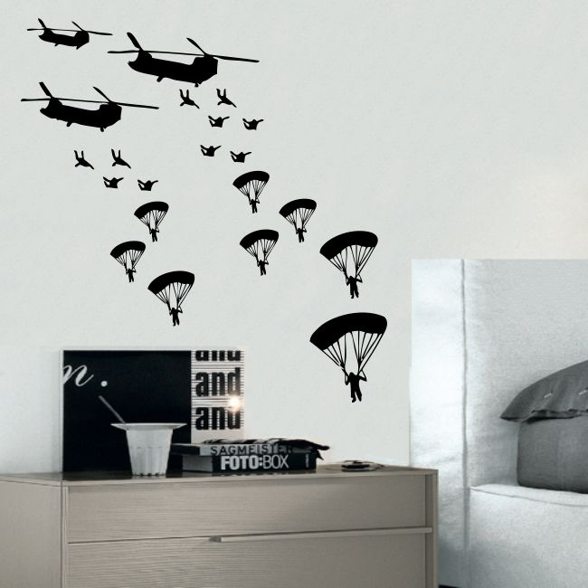 ARMY TROOPS wall sticker solider stickers vinyl home boys kids bedroom soliders in Home, Furniture & DIY | eBay