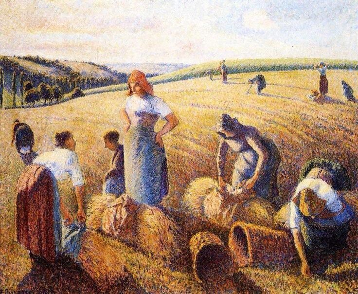 Camille Pissarro's Washing Women   Woman Pouring a Drink – 1882, Camille Pissarro