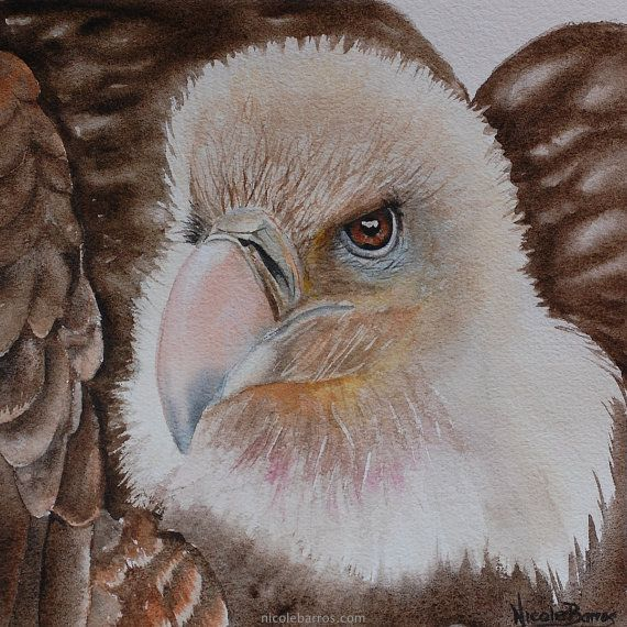 ON SALE 20% OFF Vulture Painting  Original by NicoleBarrosArt