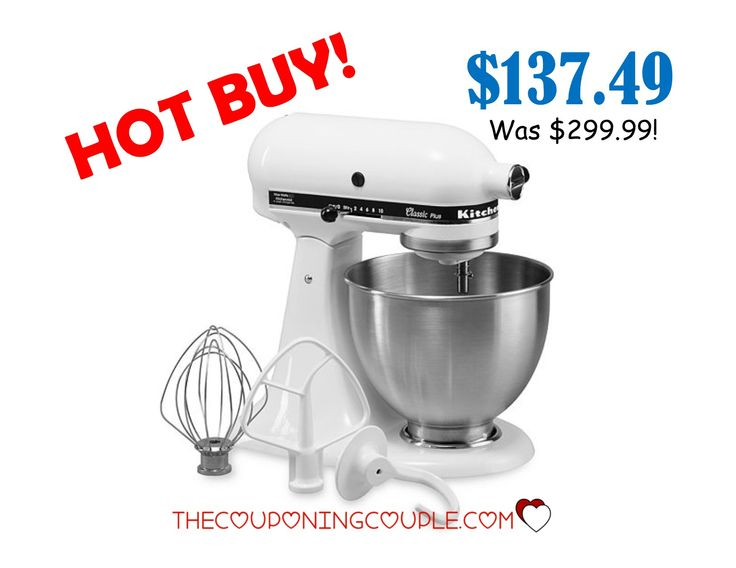 HOT BUY! Get the KitchenAid Classic Plus 4.5 Qt Mixer for only $137.49!! What a great addition to your kitchen! Plus it makes an AWESOME GIFT!  Click the link below to get all of the details ► http://www.thecouponingcouple.com/kitchenaid-classic-plus-4-5-qt-mixer-only-137-49-snag-it-now/ #Coupons #Couponing #CouponCommunity  Visit us at http://www.thecouponingcouple.com for more great posts!