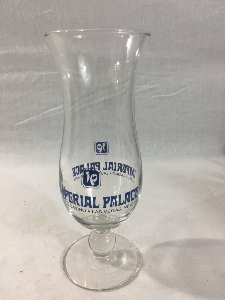 "Imperial Palace Hotel & Casino Las Vegas & Biloxi Hurricane Glasses - 8"" Tall"