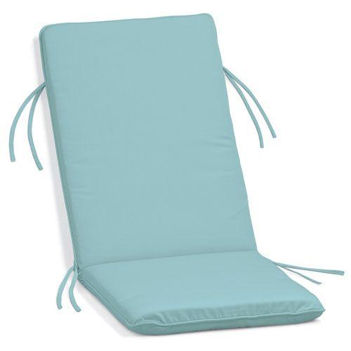 Sunbrella Cushion for Siena Reclining Armchair - Mineral Blue Sunbrella® Fabric - (In No Image Available)
