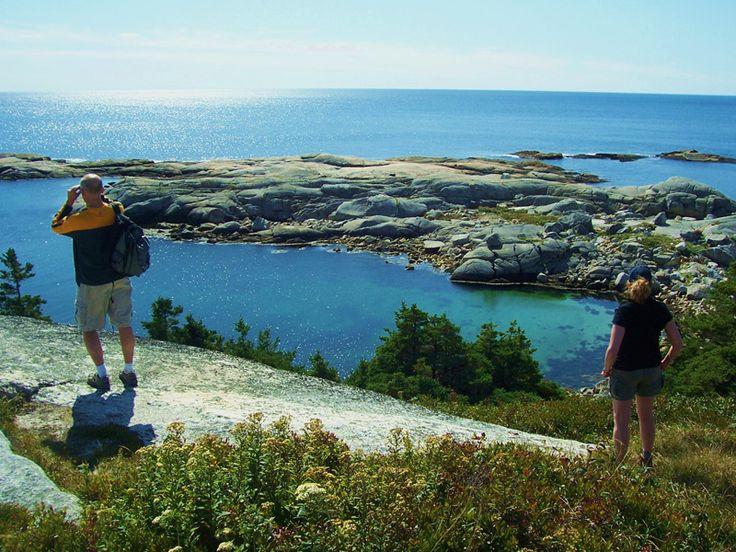 Watching seals off the coast, Peggy's Cove Nova Scotia.