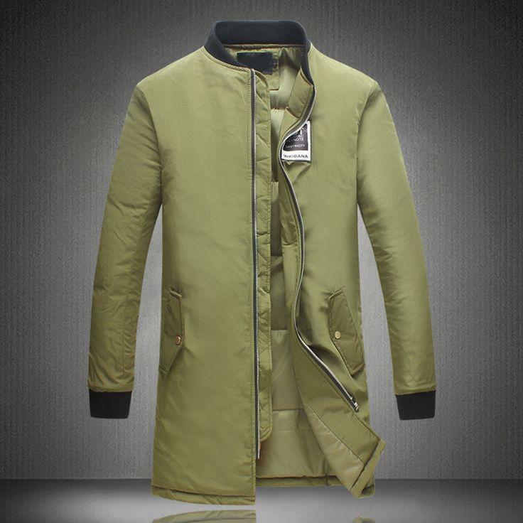 2016 Men Cotton Coat Parkas Jackets Mens Casual Fashion Slim Fit Winter Large Size Thickening Windbreaker Long Down Parkas Coat