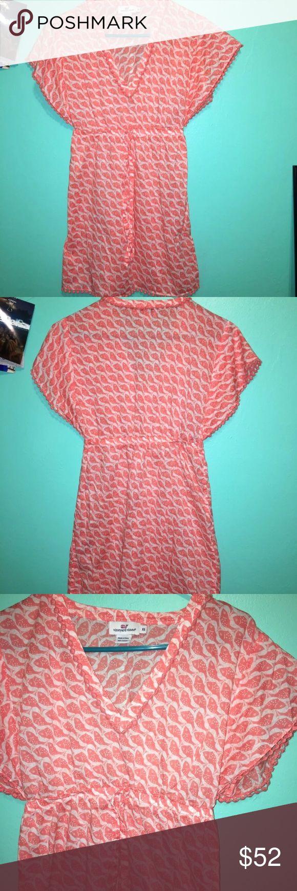 Flash Sale Vineyard Vines Swim Cover Up Like New Pom Pom Details  Throughout The Dress