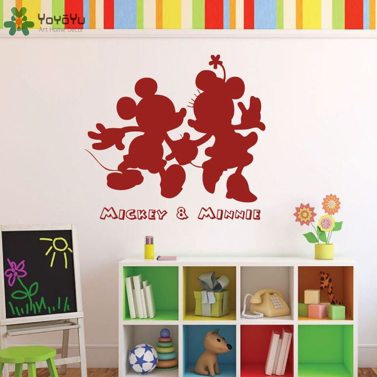 Mickey Minnie Mouse Wall Decal Kids Nursery Room Vinyl Wall Stickers For  Kids Rooms Girls Bedroom Part 93