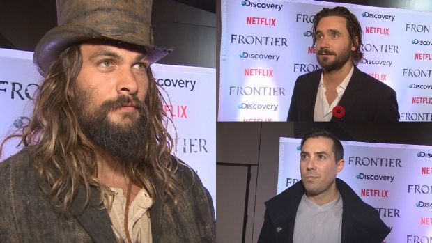 Jason Momoa, Allan Hawco and Brad Peyton attended the world premiere of Frontier Saturday night in St. John's.
