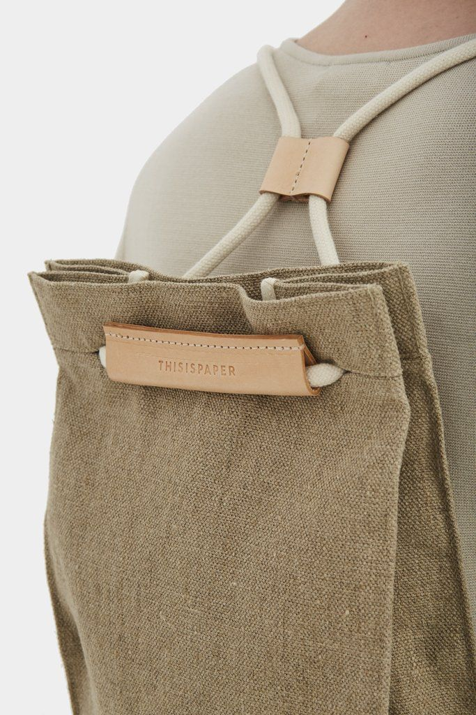 Pocket Bag Medium Raw Natural – Thisispaper Shop