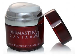 Dermastir Caviar Sun Protection SPF50+ - sun protection, airless jar, sun cream sun protection cream, skin care creams, caviar for skin, top face care products,  made in France. Buy now on altacare.com