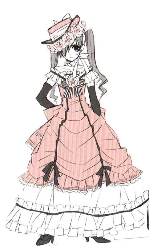 black butler cosplay costume ciel phantomhive dress off shoulder