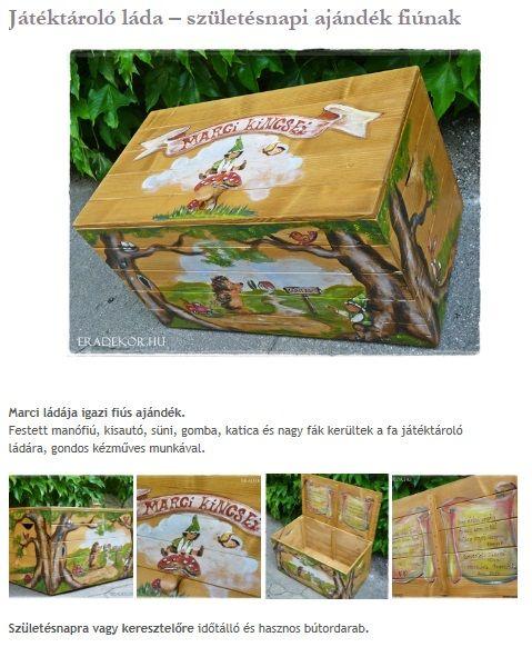 Születésnapi erdős-sünis ajándék fiúnak. Nézd meg, katt az alábbi linkre >> http://eradekor.hu/keresztelo-ajandek/jatektarolo-lada-szuletesnapi-ajandek-fiunak/