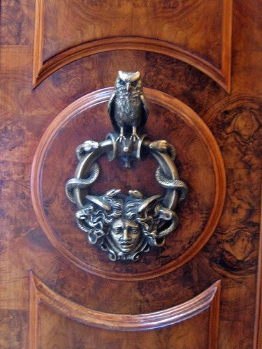Owl Door Knocker  --  snake  Medusa  animal  nature  myth