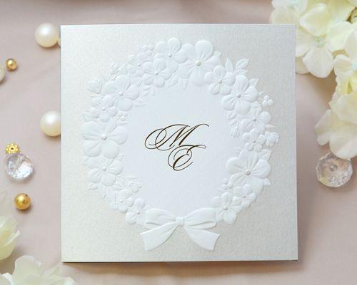 結婚式招待状 印刷込み フェリチタbw ブラウン name on card