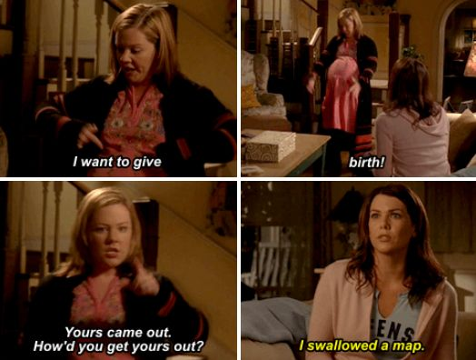 """When she was so done with being pregnant. 