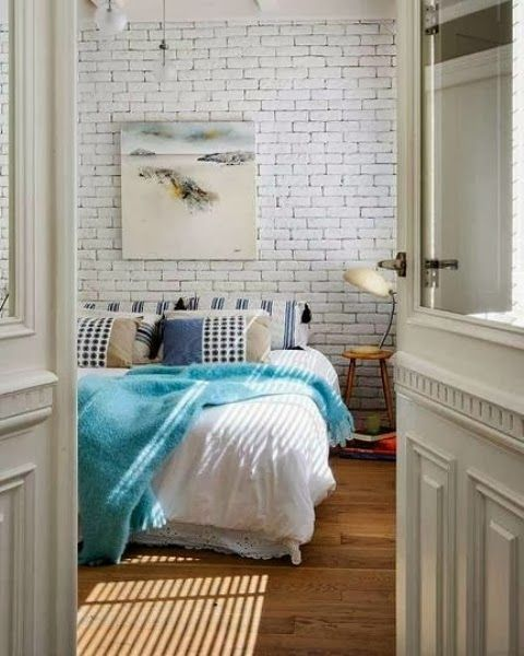 Papel de parede a imitar tijolo...