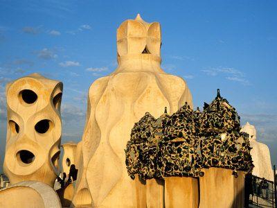 Barcelona, city of the famous art-nouveau architect Antoni Gaudi