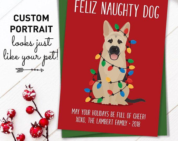 Funny Christmas Card German Shepherd Christmas Cards With Custom