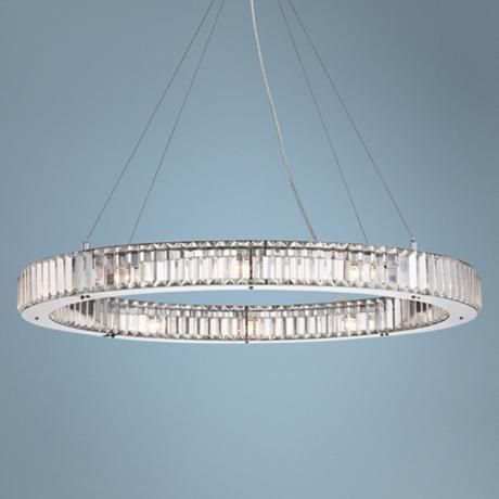 35 1 2 wide crystal glass pendant light