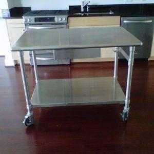 Economy Stainless Steel Kitchen Island Work Table