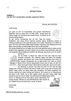 Briefe schreiben | Brief schreiben | Brief deutsch, Briefe ...