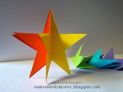 Stella arcobaleno 3D