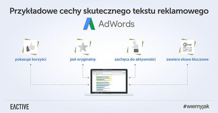 Poznaj cechy skutecznego tekstu reklamowego AdWords.