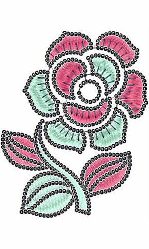 Lovely Sequins Applique Embroidery Design