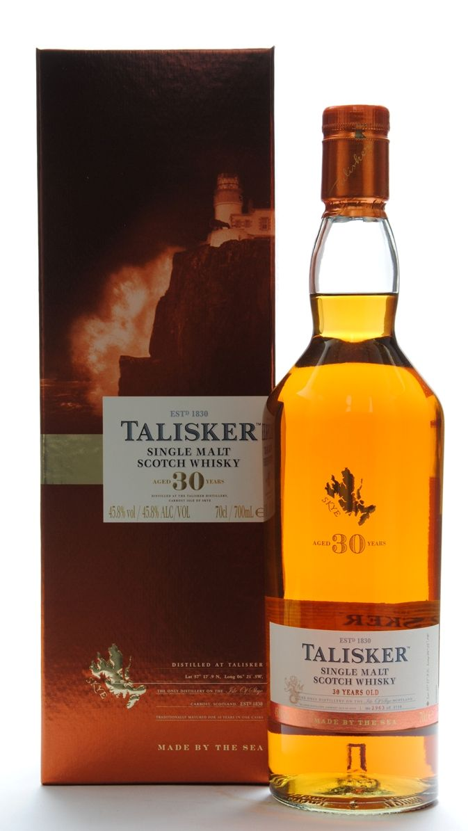 Talisker Single Malt Whisky Aged 30 Yares Old