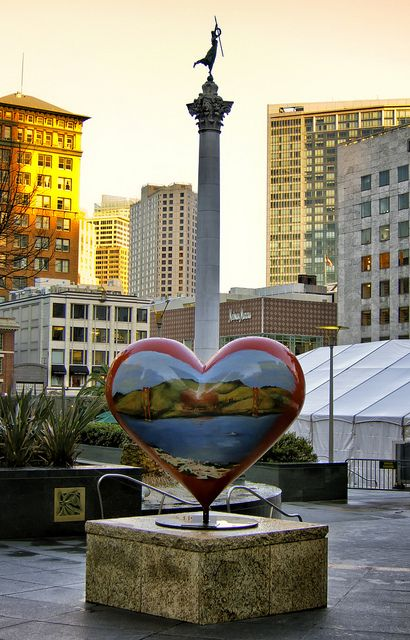 A Heart in San Francisco... #SanFrancisco